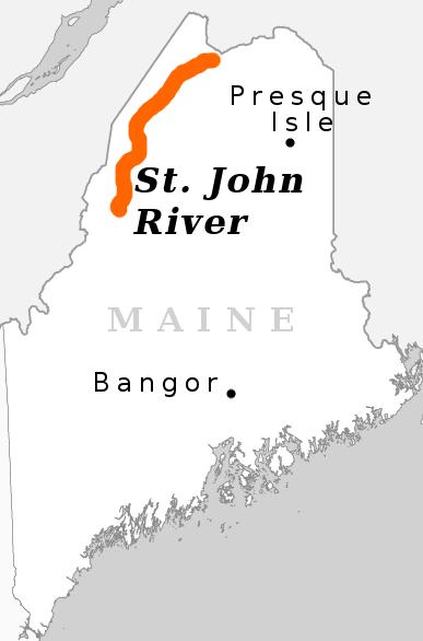 St John River Maine Map.St John River Canoe Trip In Northern Maine